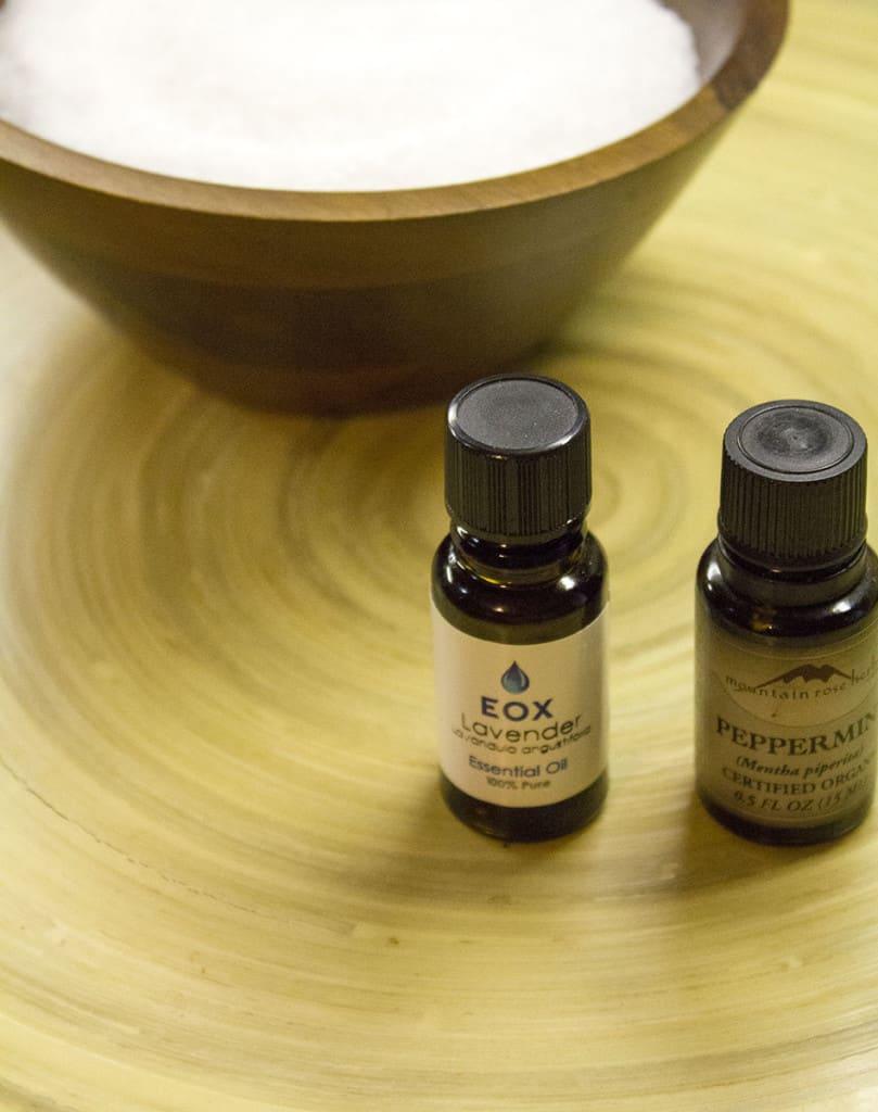 essential oils for bath salts