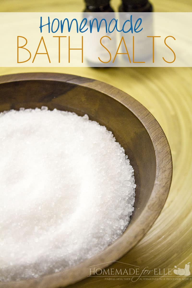 Homemade Bath Salts with Essential Oils