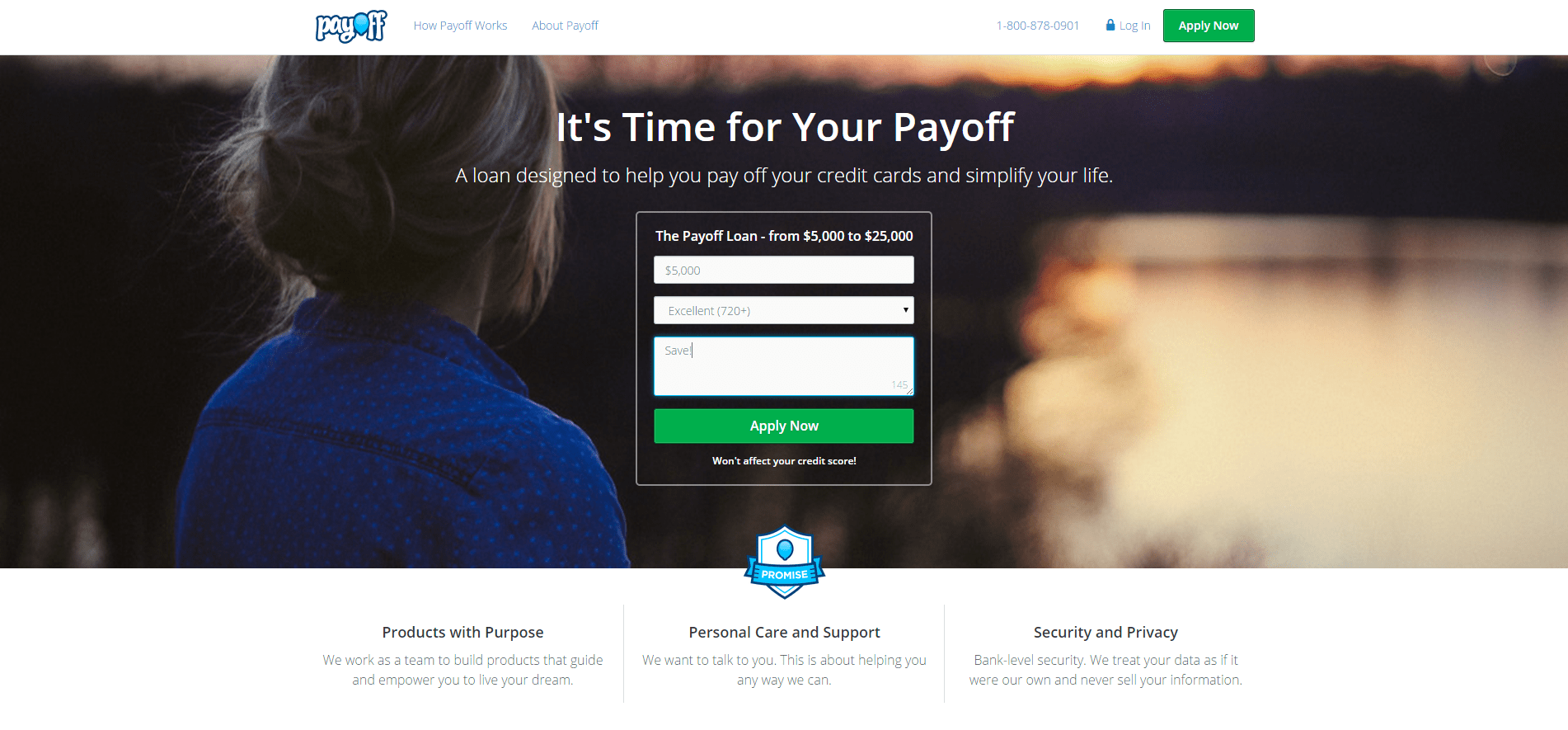 payoff intro page