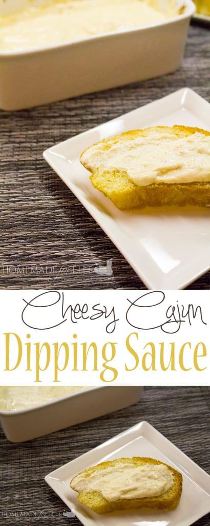 cheesy cajun dipping sauce