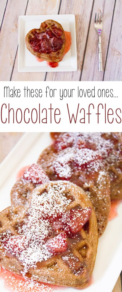 chocolate waffles from scratch