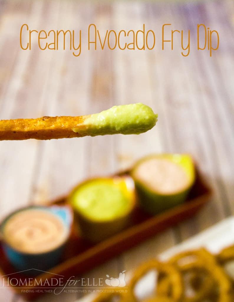 creamy avocado fry dip