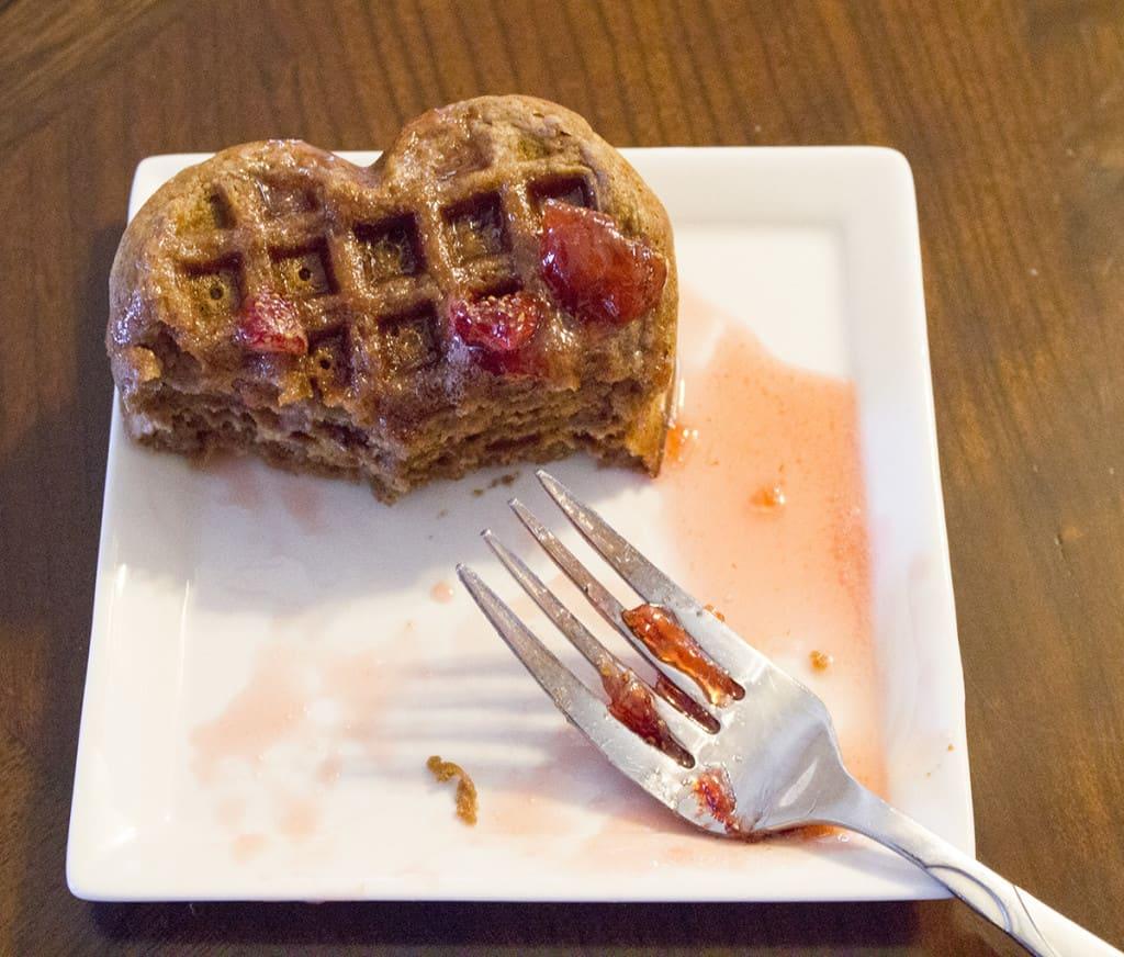 eating waffles