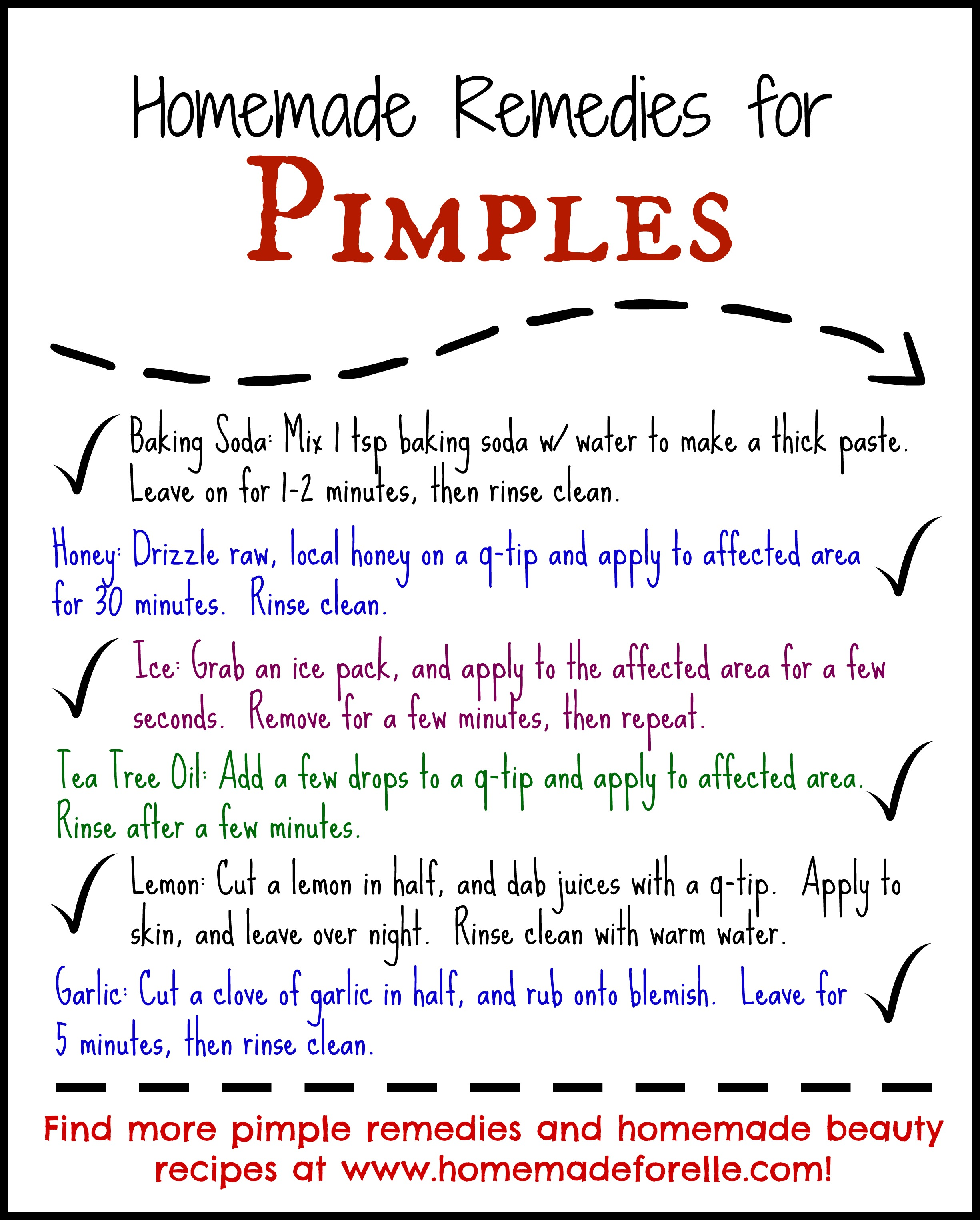 Homemade Beauty Tips for Pimples  Homemade for Elle