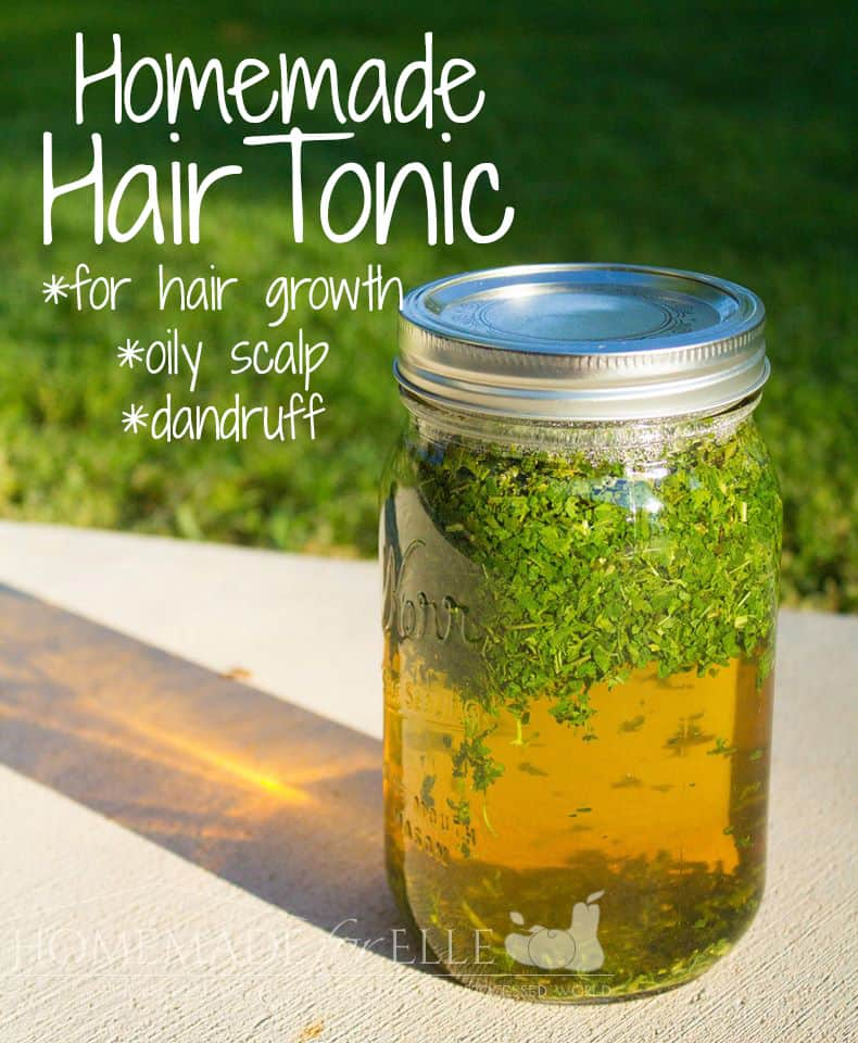 Homemade Hair Tonic for Growth