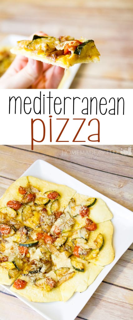 homemade mediterranean pizza