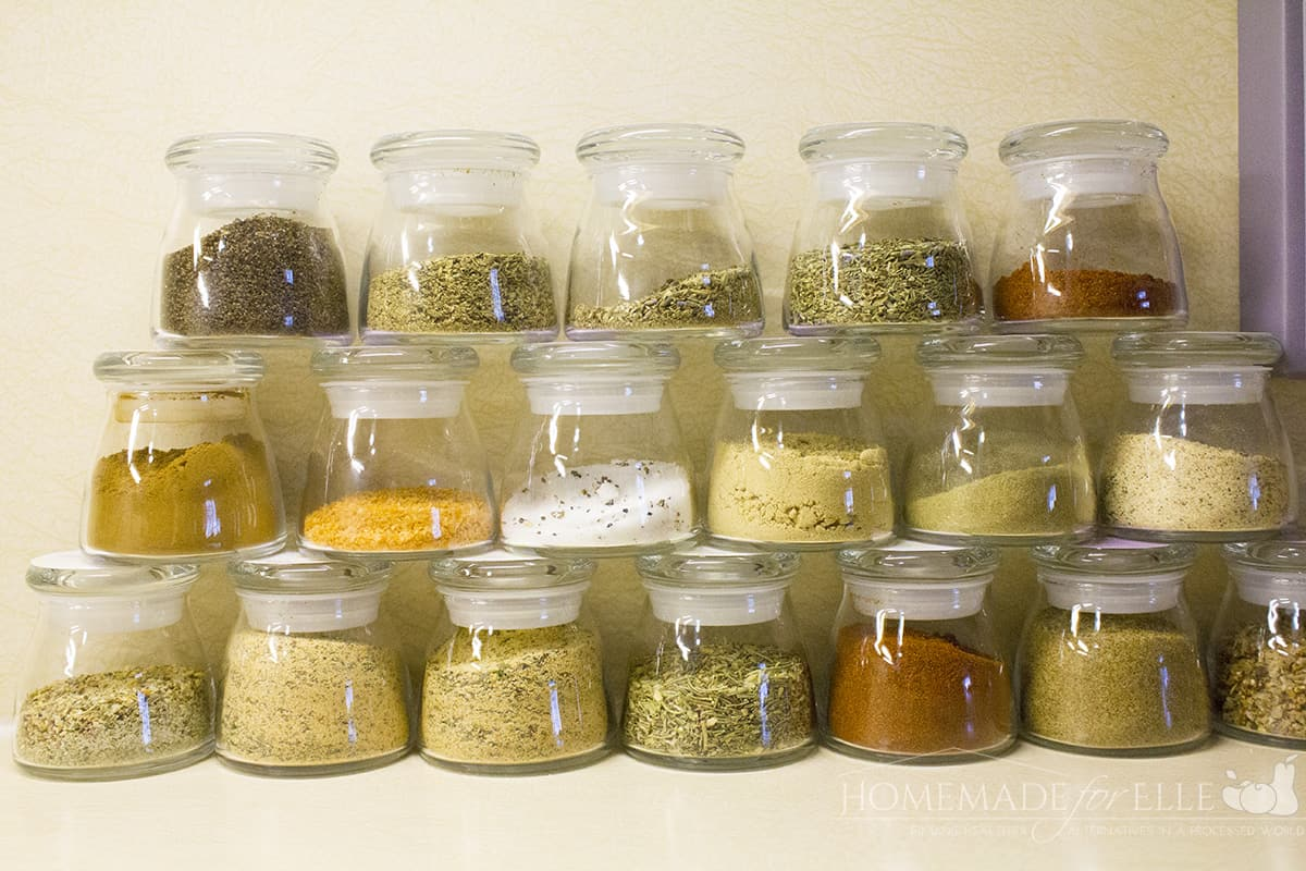 spice jars for the counter