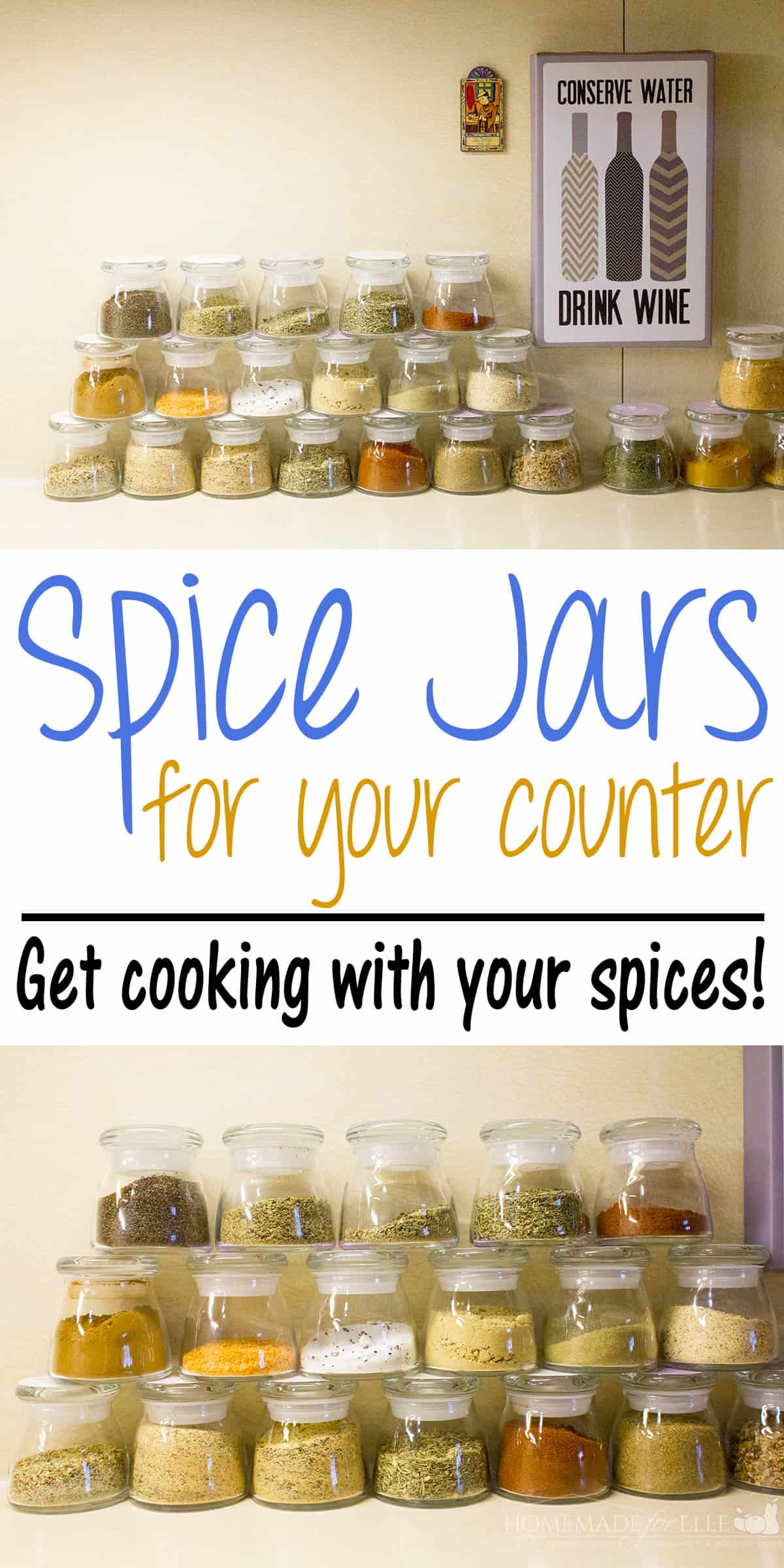 spice jars for your counters
