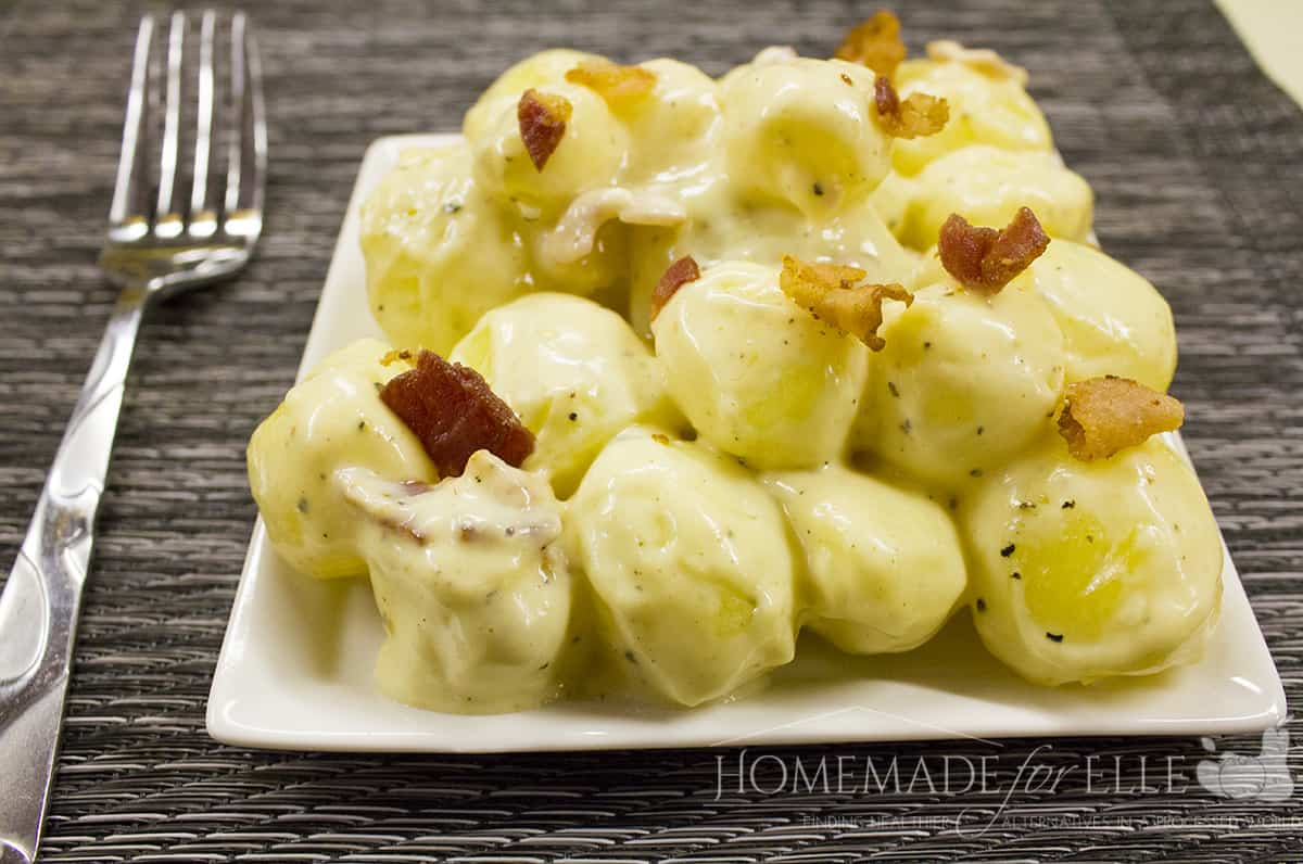 Warm Potato Salad with Bacon and Horseradish