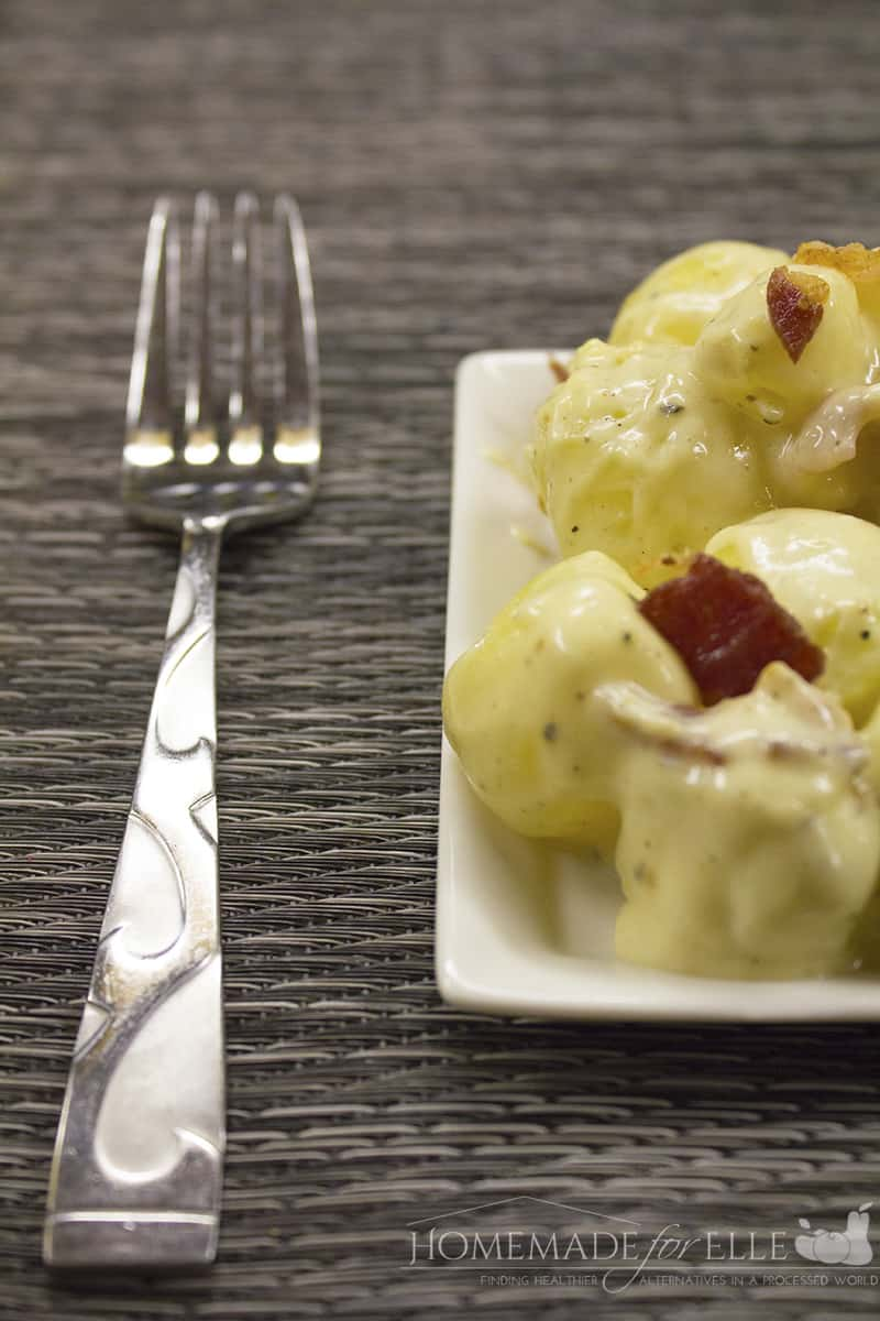 warm potato salad with bacon - Copy