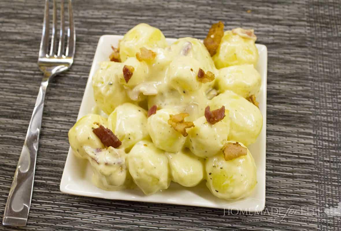 warm potato salad with bacon and horseradish - Copy