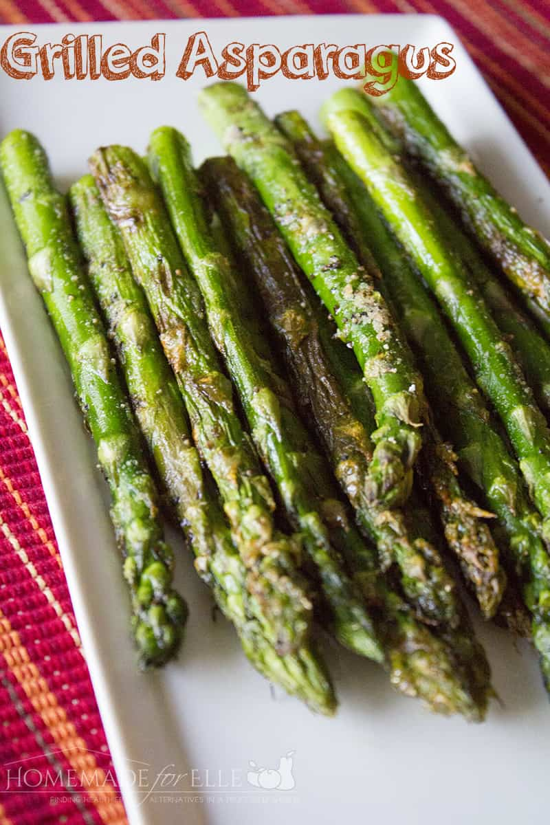 grilled asparagus from homemade for elle