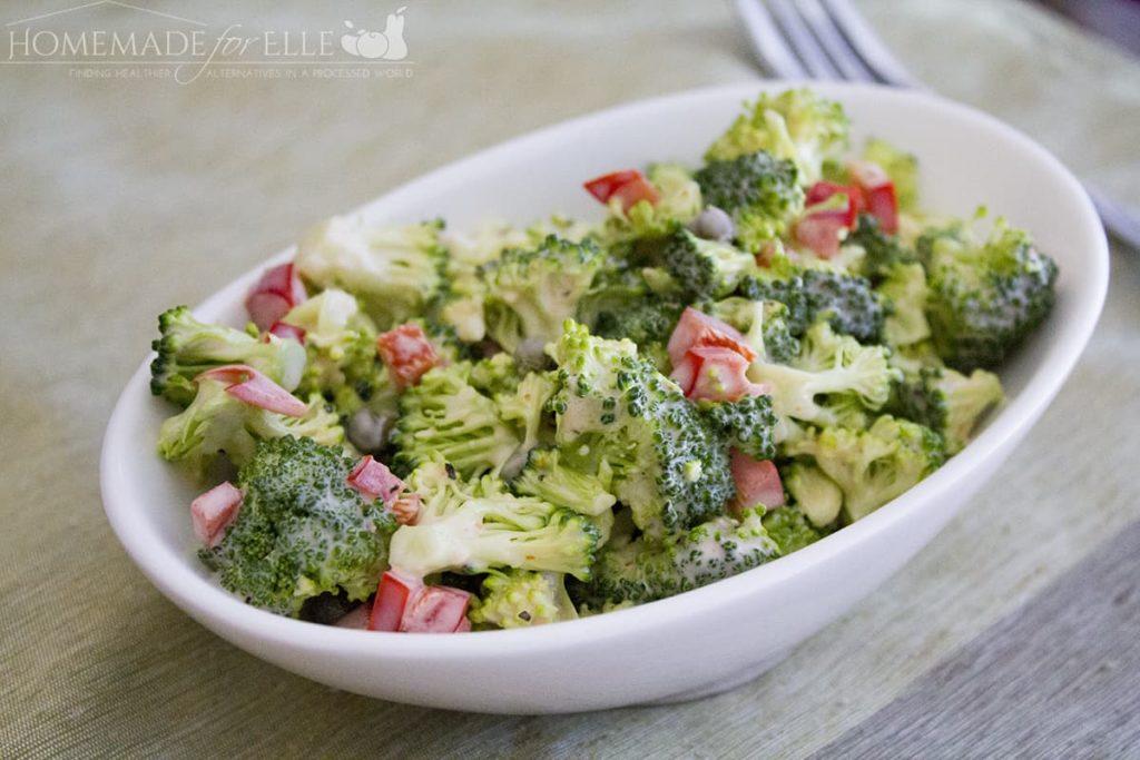 homemade broccoli salad