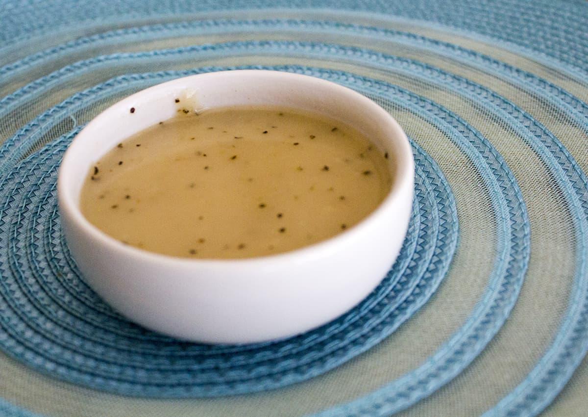 homemade veloute sauce