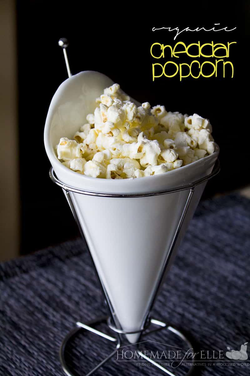 Organic Cheddar Popcorn