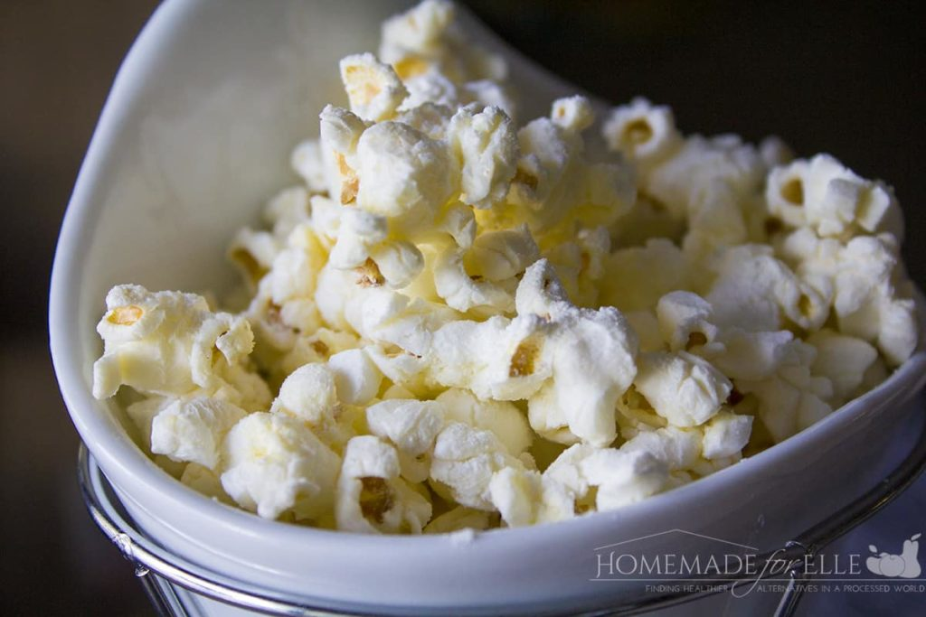 Cheddar Popcorn Recipe | Homemade for Elle