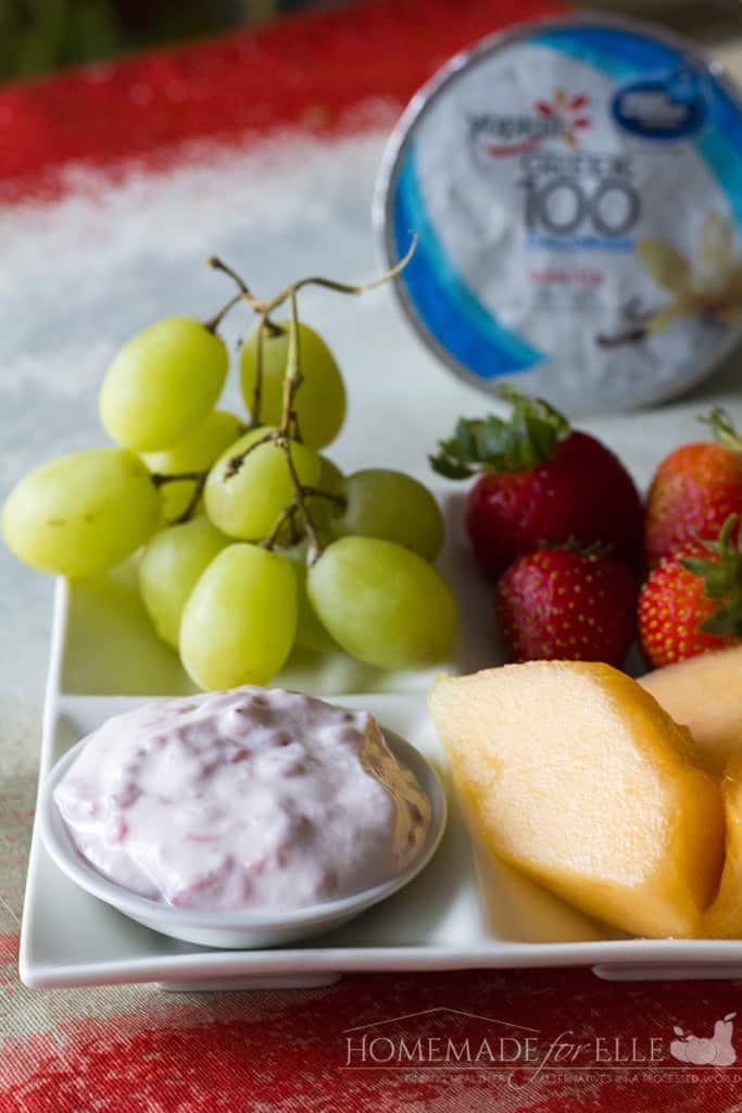 princess fruit dip