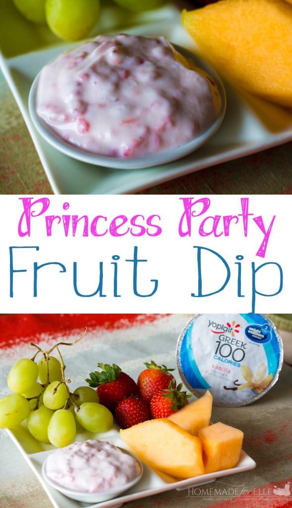 princess party fruit dip