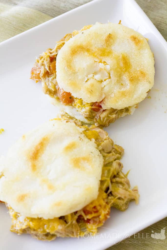 Arepas with CHile