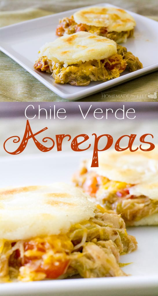Chile Verde Arepas from Homemade for Elle