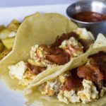 Homestyle fries and breakfast tacos