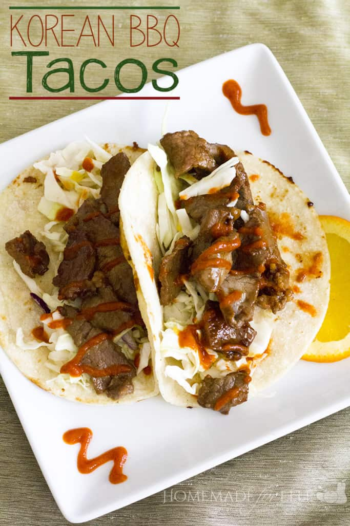Korean BBQ Tacos | homemadeforelle.com
