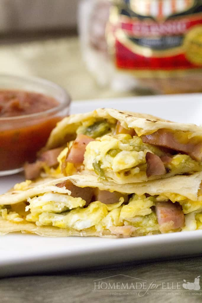 ham and egg quesadilla