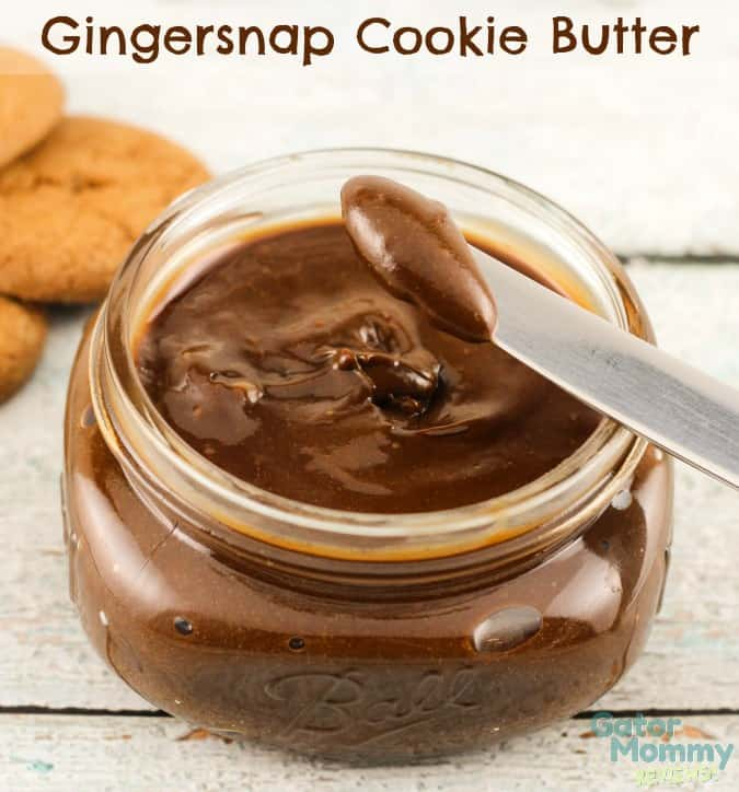 Gingersnsap Cookie Butter - Homemade Christmas Gifts in a Jar