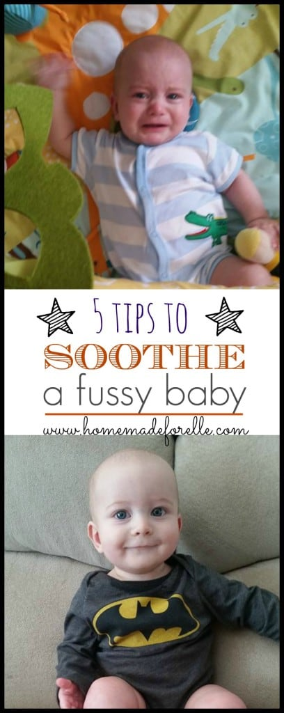 5 tips to soothe a fussy baby - what to do when your baby is high needs | homemadeforelle.com