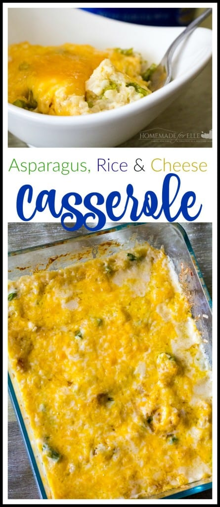 Asparagus Rice and Cheese Casserole | homemadeforelle.com