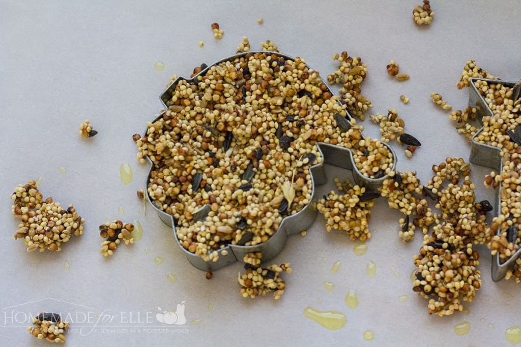 how to make bird seed ornaments | homemadeforelle.com