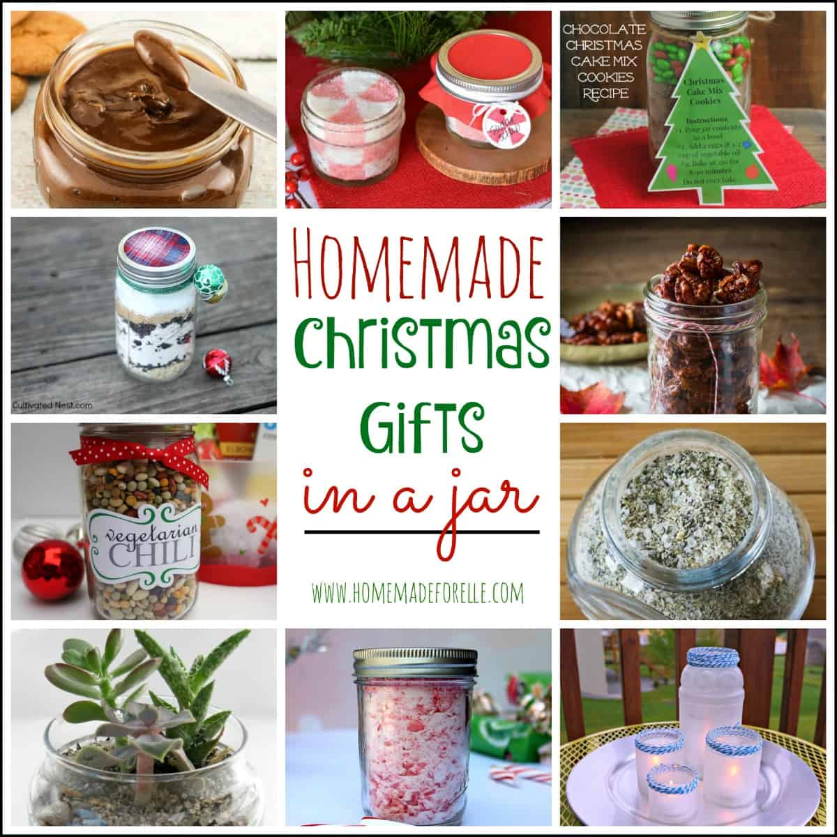 22 Homemade Christmas Gifts in a Jar