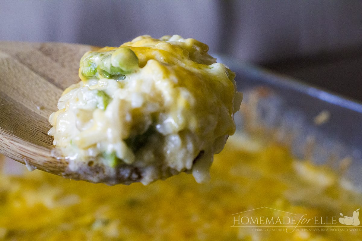 Asparagus, Rice and Cheese Casserole