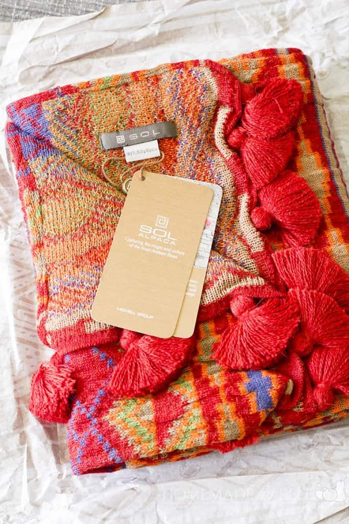 SOL ALPACA baby alpaca scarf | homemadeforelle.com