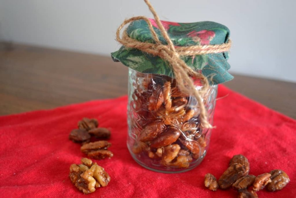 Maple Cinnamon Nuts - Homemade Christmas Gifts in a Jar