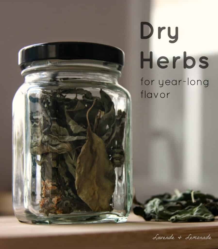Dried Herbs - Homemade Christmas Gifts in a Jar