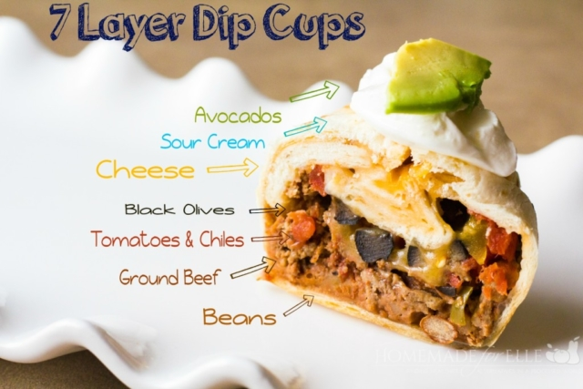 7 Layer Dip Cup Appetizers