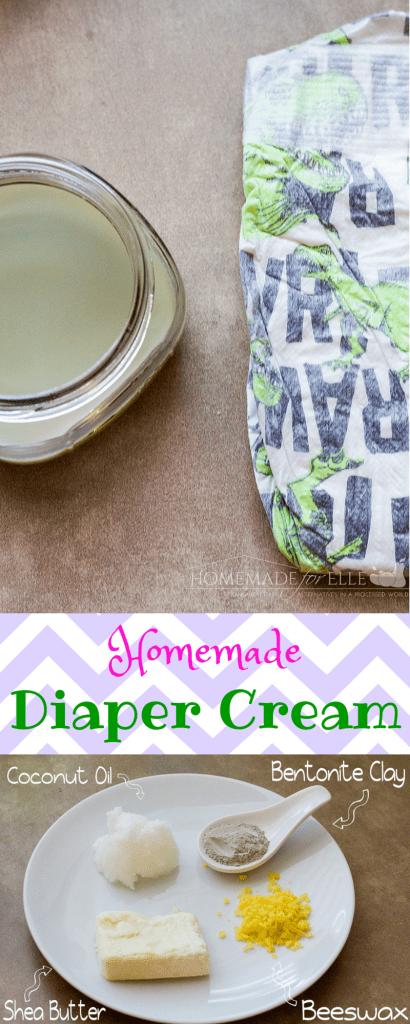 All Natural Diaper Cream | homemadeforelle.com