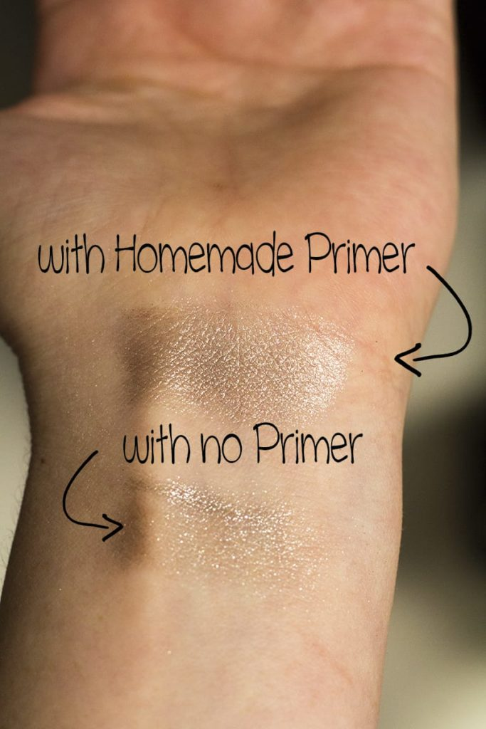 How to Make Eyeshadow Primer | homemadeforelle.com