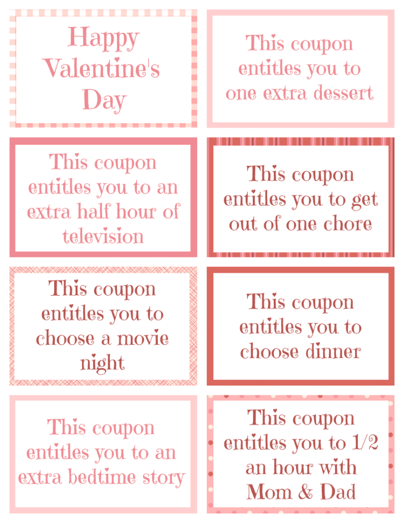 printable Valentine coupon book | wondermomwannabe.com