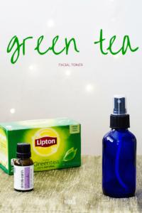 Homemade Green Tea Facial Toner