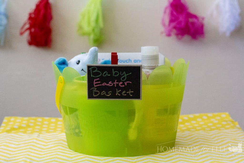 Baby Easter Basket Ideas | homemadeforelle.com