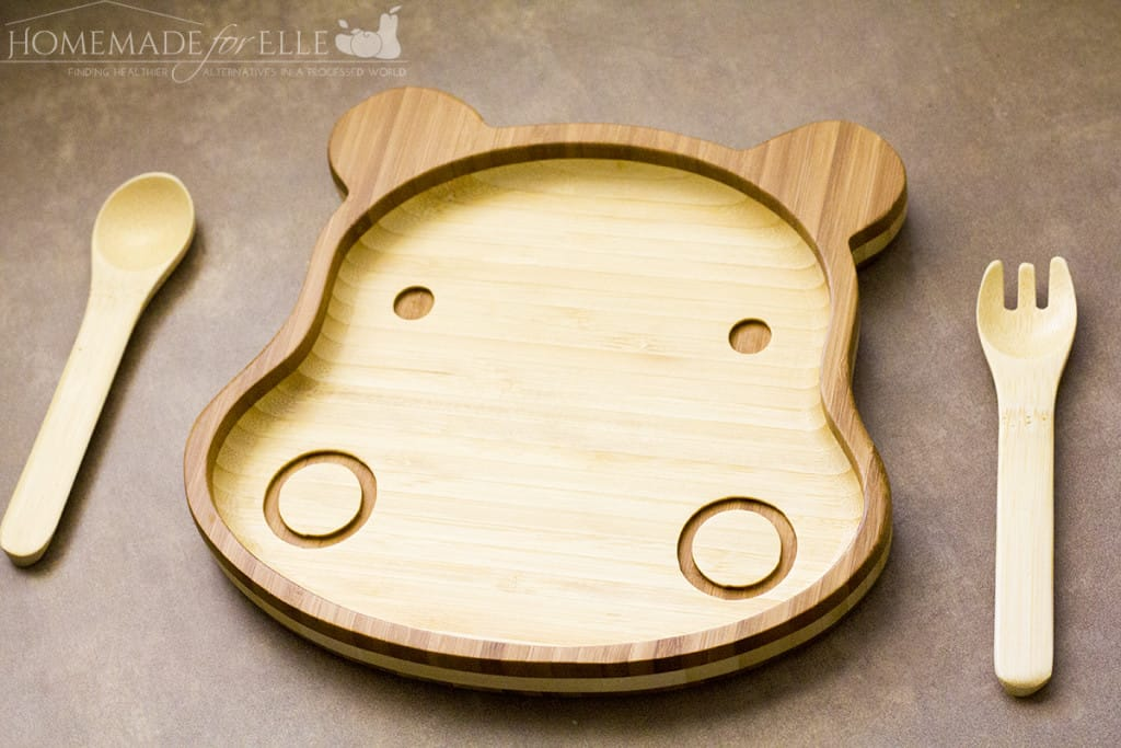 Bamboo Childrens Plate | homemadeforelle.com