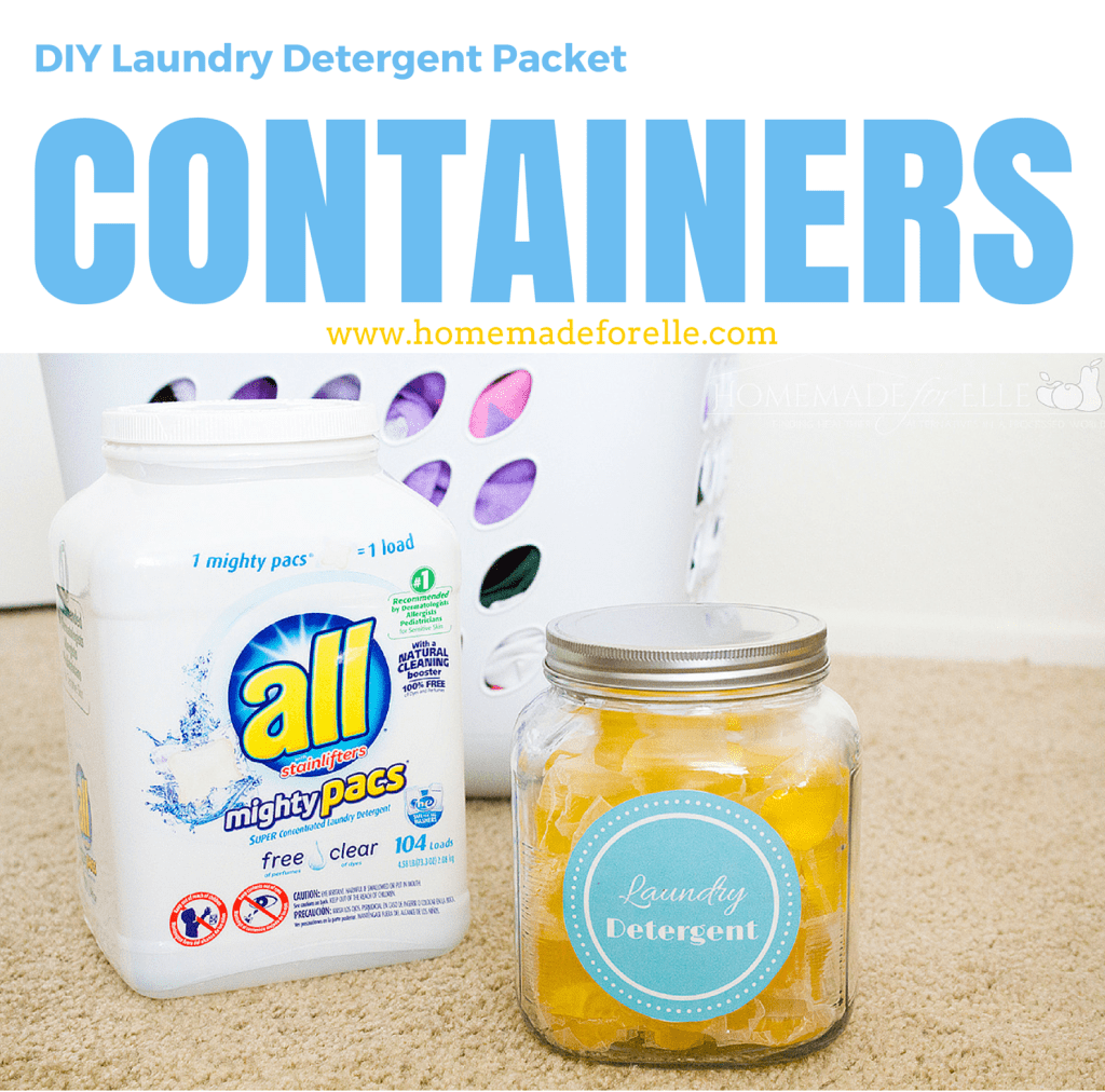 DIY Laundry Detergent Packet withfont