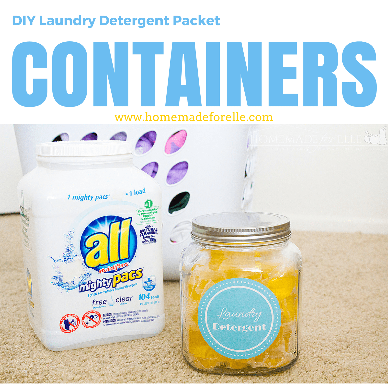 DIY Laundry Detergent Packet Containers