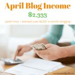 April Blog Income