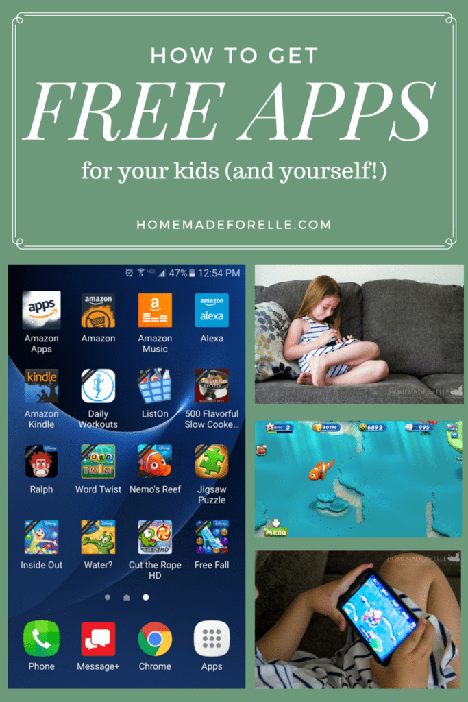 How to Get Free Apps for Kids | homemadeforelle.com