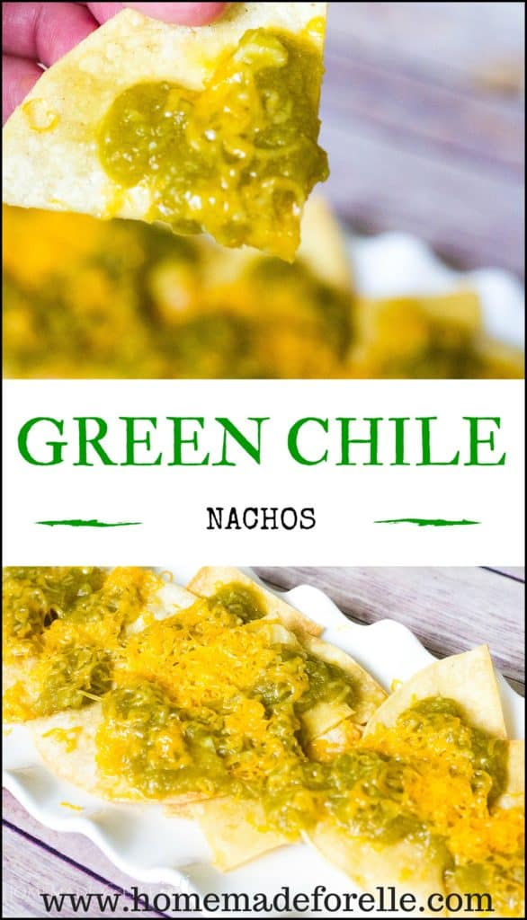 Green Chile Nachos | homemadeforelle.com