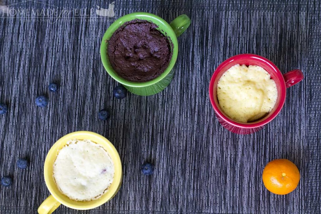 Clean Eating Mug Cakes | homemadeforelle.com