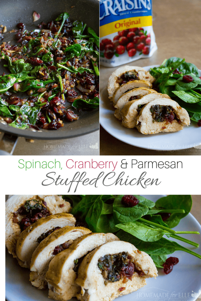 Spinach and Cranberry Stuffed Chicken | homemadeforelle.com
